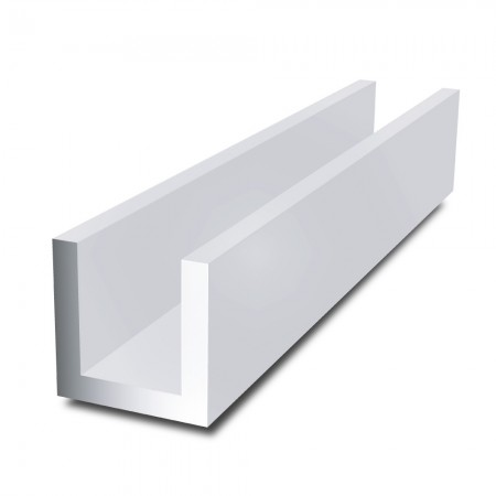 12 mm x 12 mm x 2 mm x 2 mm - Aluminium Channel