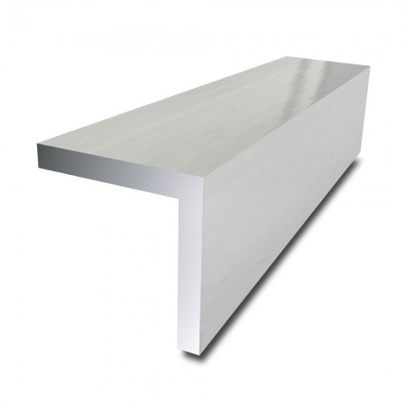 2 in x 2 in x 1/8 in - Bright Polished Aluminium Angle