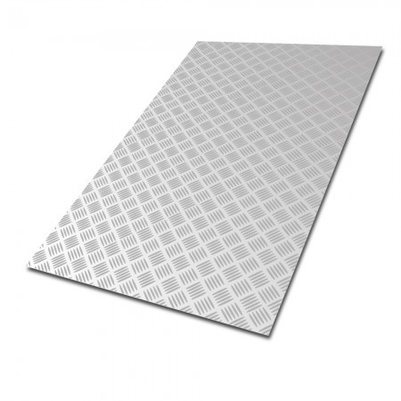 Aluminium Five Bar Tread Plate - Cut To Size