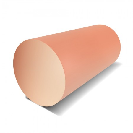 1 in Diameter - Copper Round Bar