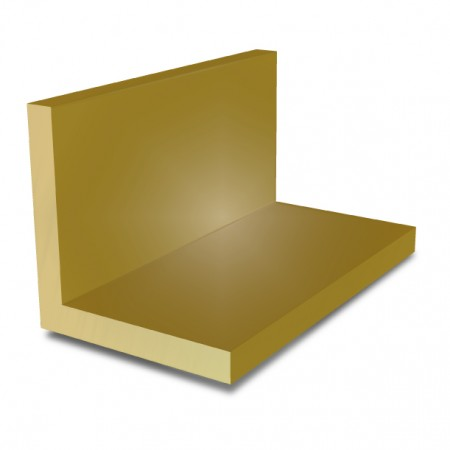 1/2 in x 1/2 in x 1/8 in - Brass Angle