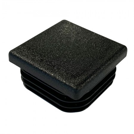 Square Tube End Cap 38 mm - Thick wall top