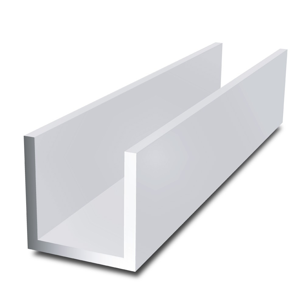 10 mm x 10 mm x 2 mm x 2 mm - Aluminium Channel