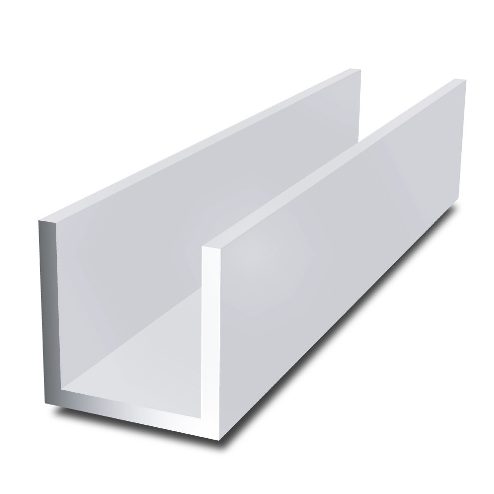 20 mm x 20 mm x 2 mm x 2 mm - Aluminium Channel
