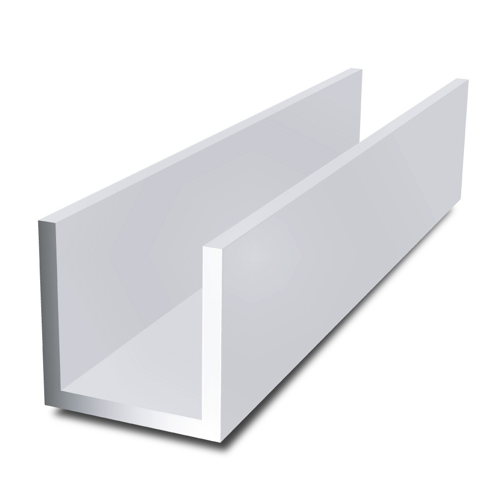 40 mm x 40 mm x 4 mm x 4 mm - Aluminium Channel
