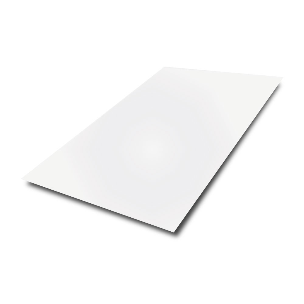 2500 mm x 1250 mm x 0.9 mm - White Painted Sheet