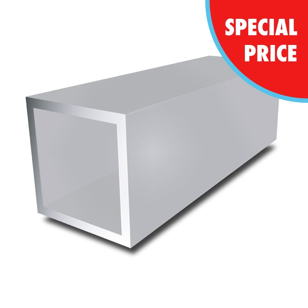 100 mm x 100 mm x 2 mm - Aluminium Square Tube