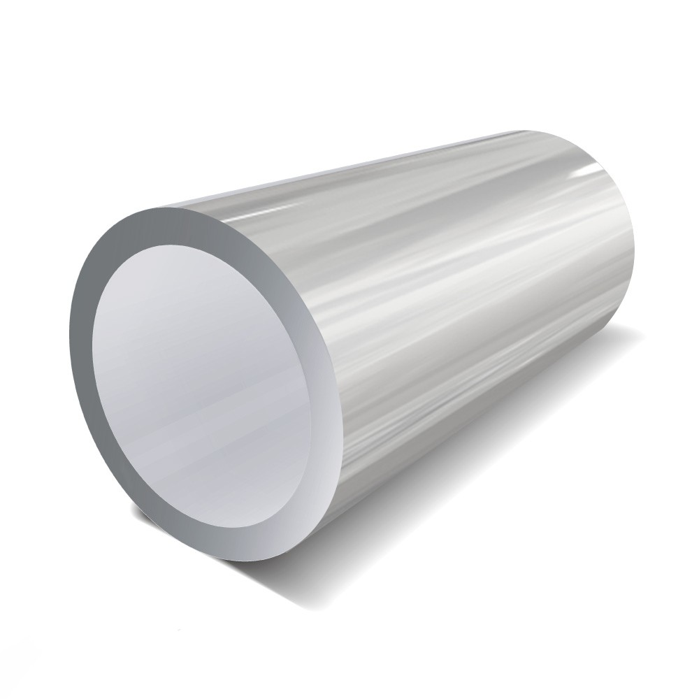 2 in x 16 swg - Bright Polished Aluminium Round Tube