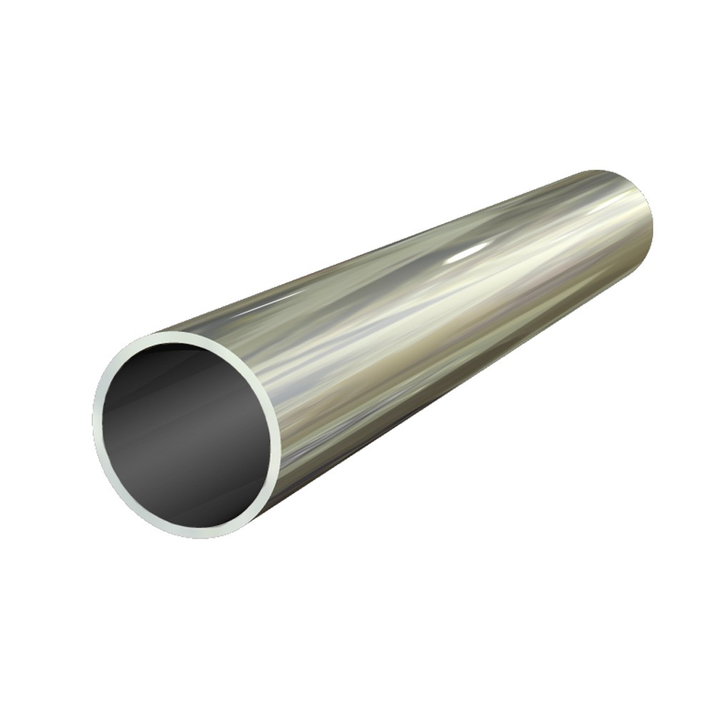 2 1/2 in x 16 swg Bright Polished Aluminium Round Tube
