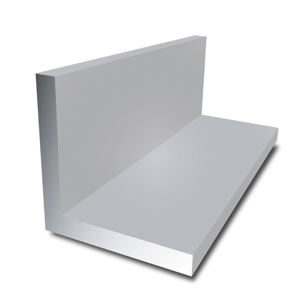 100 mm x 50 mm x 8 mm (5m) - Aluminium Unequal Angle