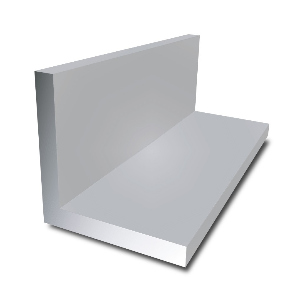 200 mm x 100 mm x 10 mm - Aluminium Unequal Angle