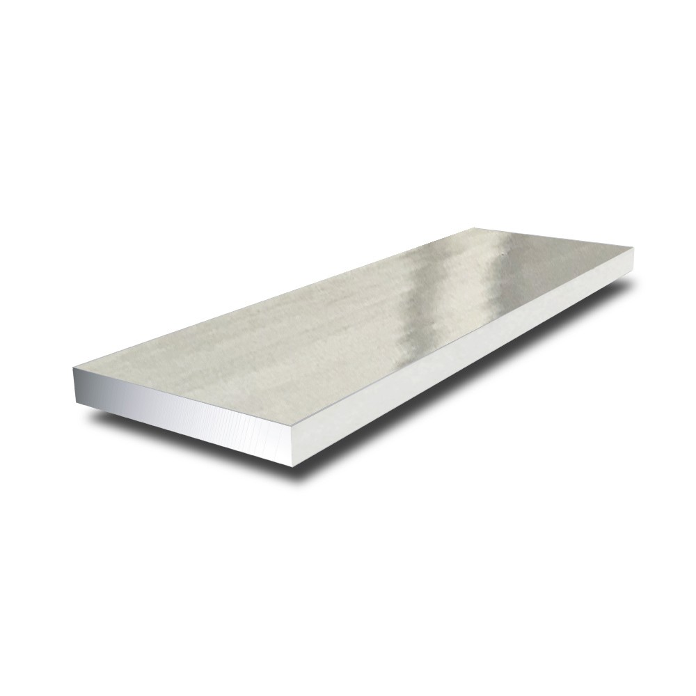 1 in x 1/8 in - Bright Polished Aluminium Flat Bar