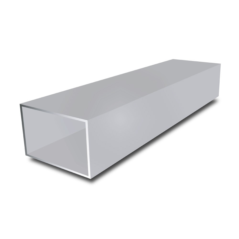 20 mm x 10 mm x 2 mm - Aluminium Rectangular Tube