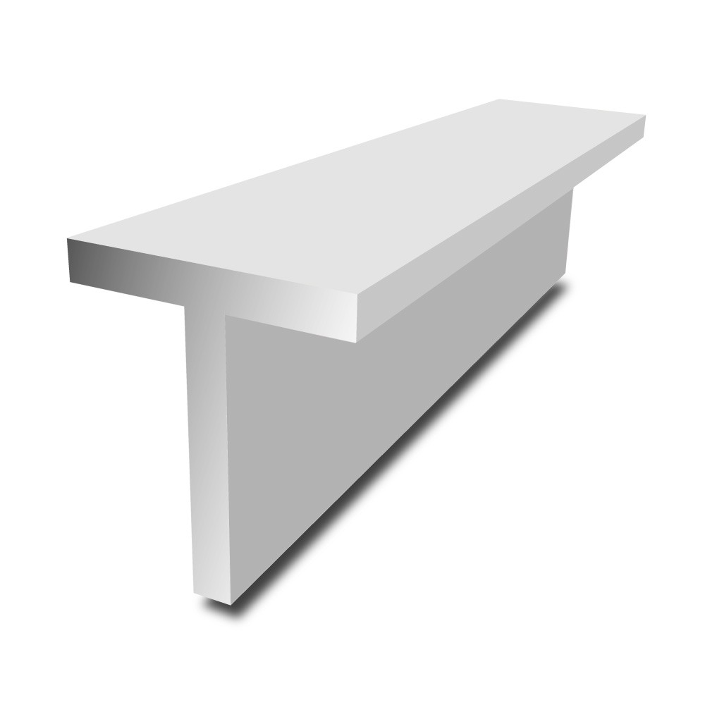 20 mm x 20 mm x 2 mm - Aluminium T-Section