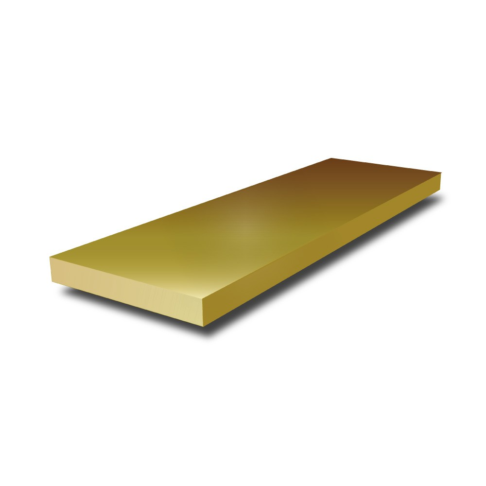 2 in x 1 1/4 in - Brass Flat Bar