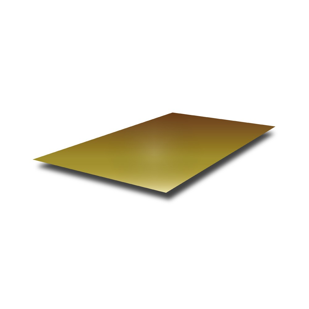 2000 mm x 1000 mm x 0.9 mm Mirror Polished Brass Sheet