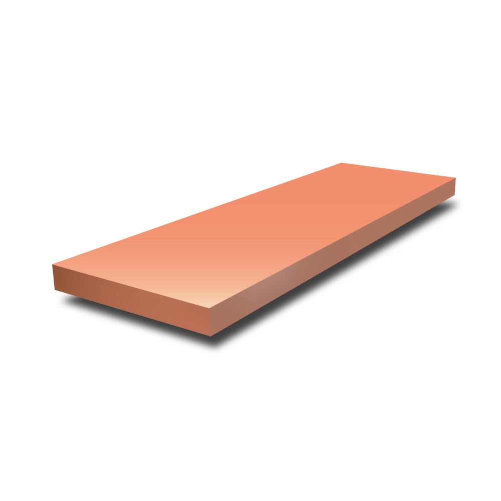 4 in x 3/8 in - Copper Flat Bar