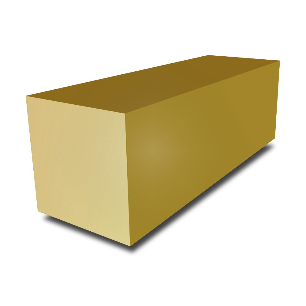 1 1/2 in - Brass Square Bar